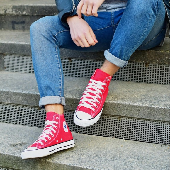 NWT Converse AdFabric AllStar Red HT M AUTHENTIC NWT